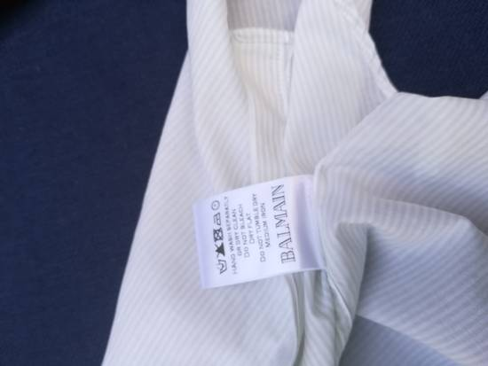Balmain BALMAIN SHIRT sleeveless white striped like new 39/15,5 Size US M / EU 48-50 / 2 - 7