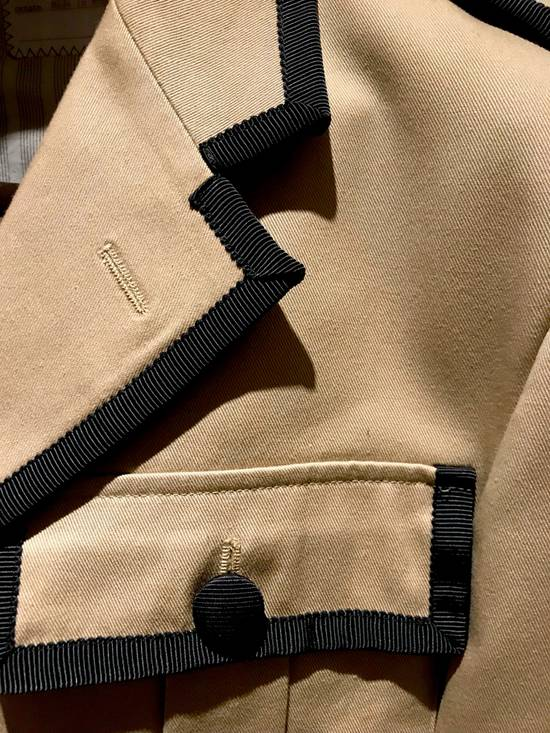 Thom Browne GROSGRAIN TRIMMED BEIGE MILITARY OFFICER JACKET Size 48R - 4