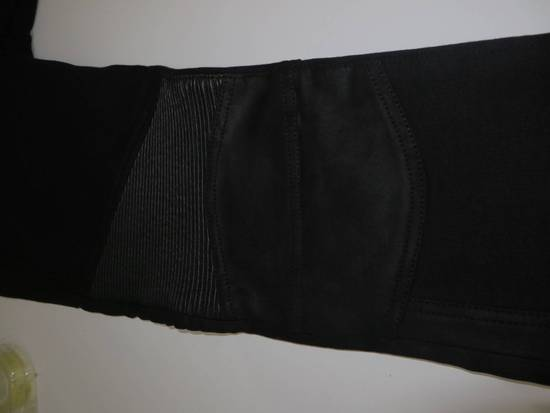 Balmain Leather and cotton biker sweatpants Size US 32 / EU 48 - 9