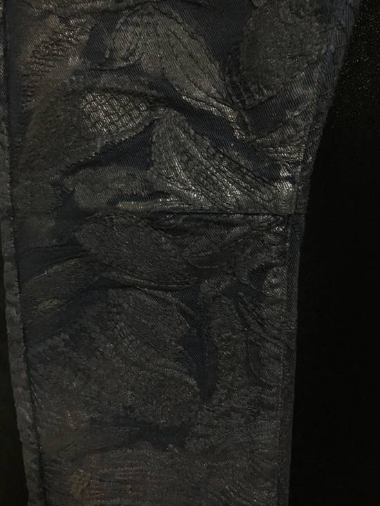 Balmain Midnight Blue Waxed Embroidered Jeans Size US 27 - 3