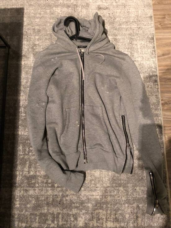 Balmain Balmain Embroidered Zip Light Distress Hoodie Size US L / EU 52-54 / 3 - 2
