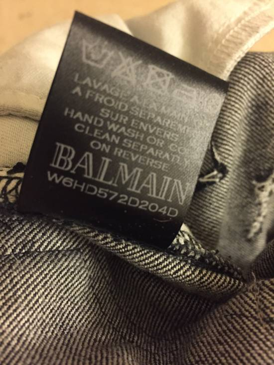 Balmain Balmain Distressed Black Denim Biker Jeans Size US 30 / EU 46 - 3