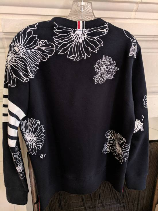Thom Browne Thom Browne Chrysanthemum and Koi Sweatshirt Size US L / EU 52-54 / 3 - 1