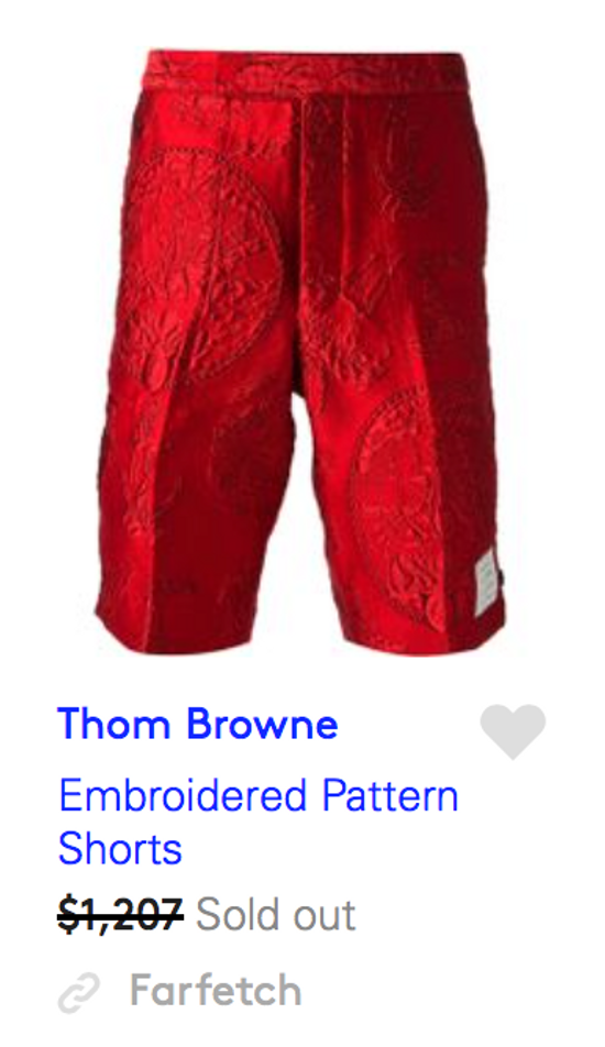 Thom Browne $1,207 embroidered red shorts Size US 30 / EU 46