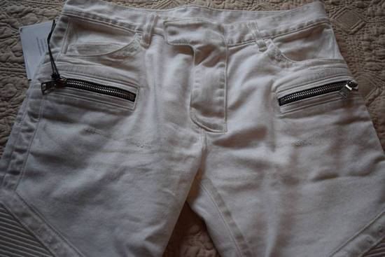 Balmain Balmain Authentic $1149 White Biker Jeans Size 30 Brand New With Tags Size US 30 / EU 46 - 1