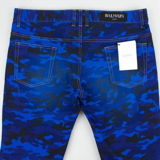 Balmain Blue Camouflage Denim Distressed Jeans Pants Size US 30 / EU 46 - 4