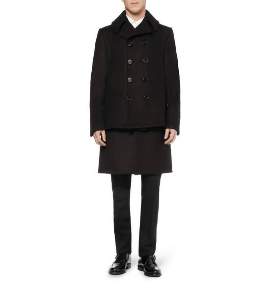 Givenchy FW12 Two Piece Black Wool Peacoat sz 48 double layer coat Riccardo Tisci Size US M / EU 48-50 / 2