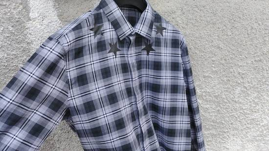 Givenchy $520 Givenchy Star Print Checked Rottweiler Shark Slim Fit Men's Shirt size 43 (L / XL) Size US L / EU 52-54 / 3 - 7