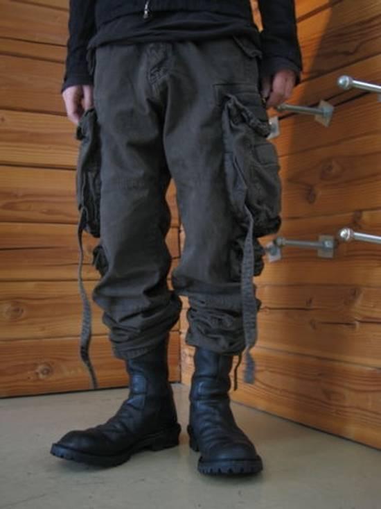 Julius Green Denim Gas Mask Cargo Pants s/s 13 Size US 31 - 13
