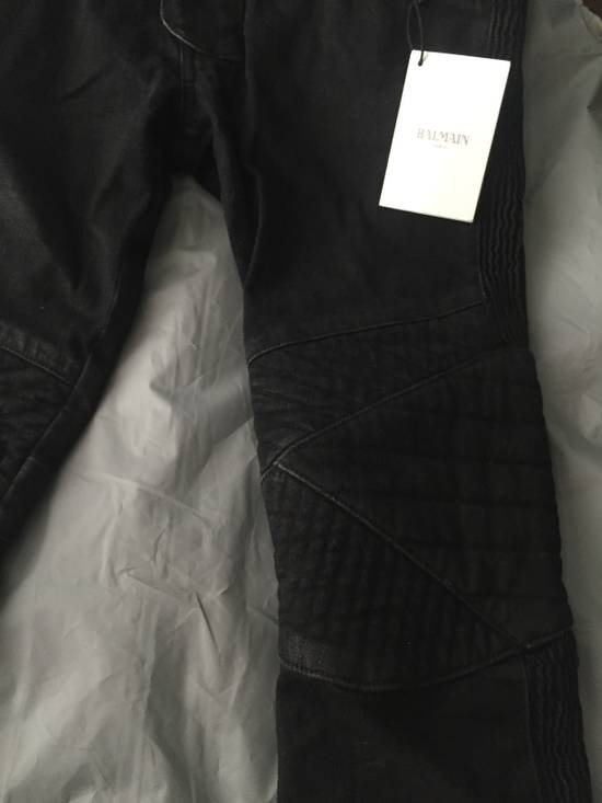 Balmain Balmain black coated biker 28 Size US 28 / EU 44 - 2