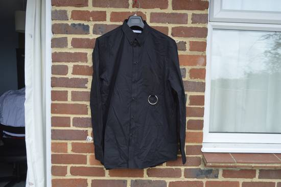Givenchy Black Metal Ring Pocket Shirt Size US L / EU 52-54 / 3