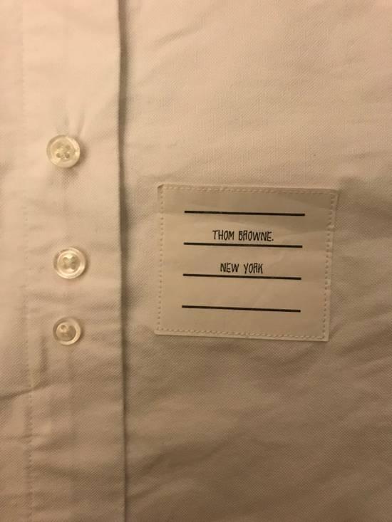 Thom Browne White Oxford Grosgrain Classic Shirt Size US XXS / EU 40 - 5