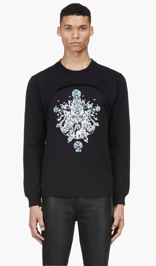 Givenchy $1200 Givenchy Black Layered Embellished Crystals Stars Rottweiler Cuban Fit Sweater size XL (L) Size US XL / EU 56 / 4 - 1