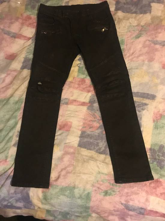 Balmain Balmain Destroyed Slim Fit Biker Jeans Size US 33