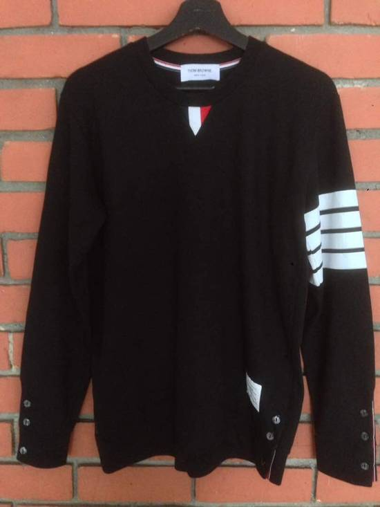 Thom Browne Nice Item !! Black Thom Browne With Stripe Sweatshirt Size US M / EU 48-50 / 2