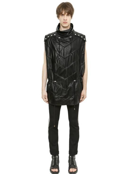 Balmain Balmain Sleeveless Leather Black Authentic $4890 Poncho Size M New Size US M / EU 48-50 / 2 - 3