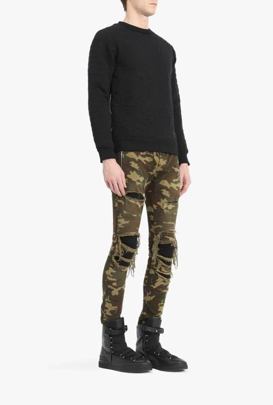 Balmain Size 36 - Heavily Distressed Camo Biker Jeans - FW17 - RARE Size US 36 / EU 52 - 12