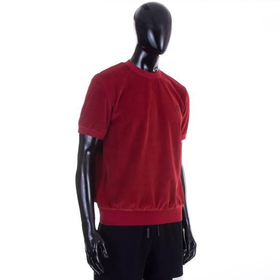 Givenchy Dark Red Men's Velour Crewneck T-Shirt With 4G Chest Logo Size US M / EU 48-50 / 2 - 4