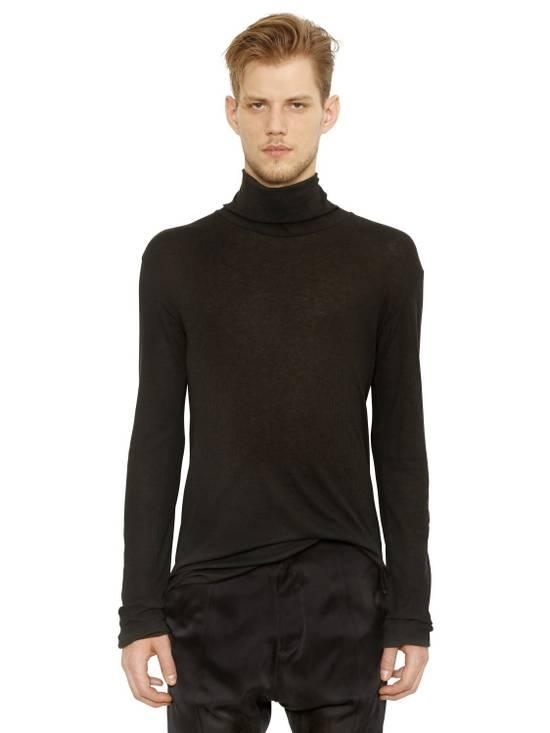 Balmain Black Ribbed Knit Roll Neck T-shirt Size US L / EU 52-54 / 3 - 1