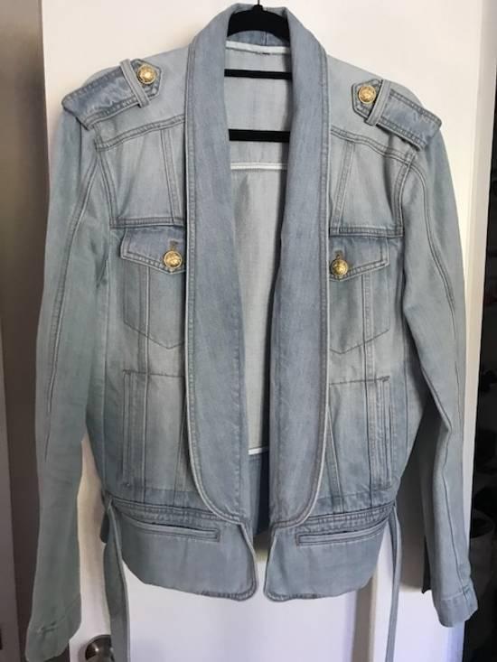 Balmain Balmain denim jacket with belt Size US M / EU 48-50 / 2