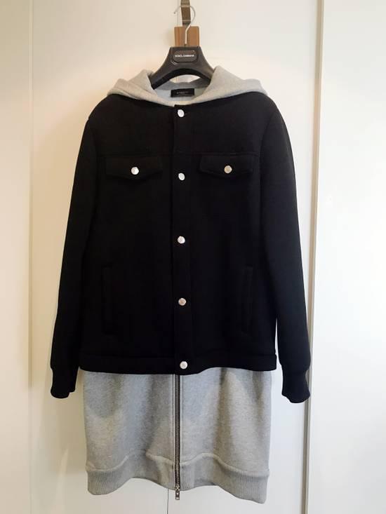 Givenchy Grey / Black Neoprene Layered Coat Size US M / EU 48-50 / 2