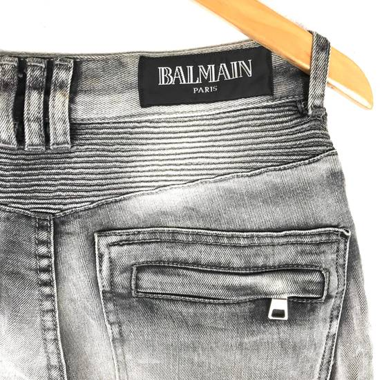 Balmain Rare! Distressed Balmain Biker Denim Jean Trouser Skinny Luxury Designer Size US 32 / EU 48 - 7