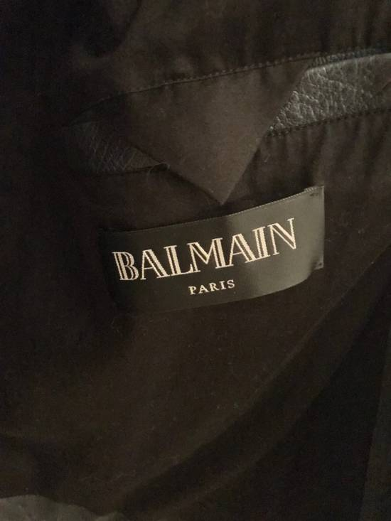 Balmain Navy Balmain Leather Jacket Size US S / EU 44-46 / 1 - 4