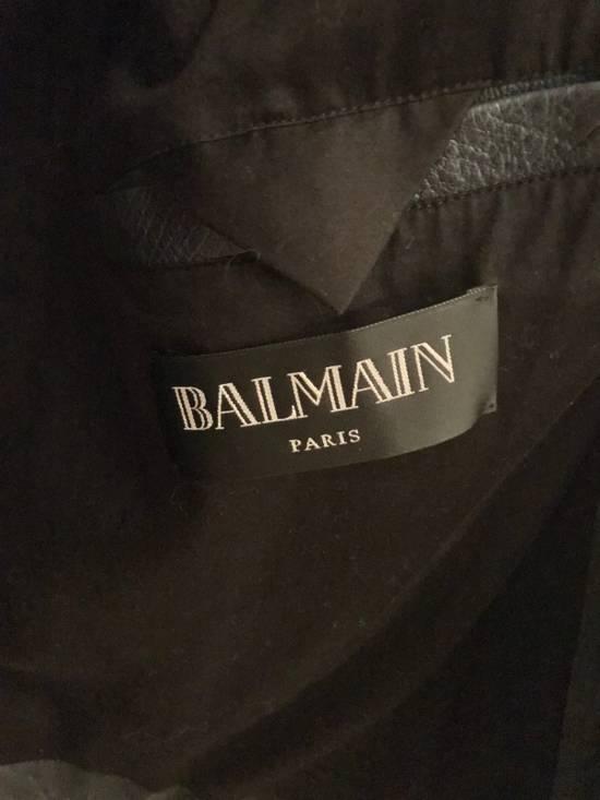 Balmain Navy Balmain Leather Jacket Size US S / EU 44-46 / 1 - 4