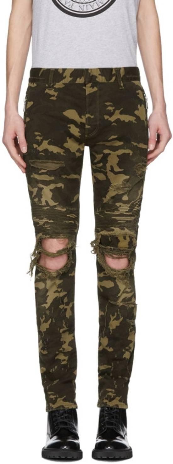 Balmain Camo Destroy Slim Jeans Size US 32 / EU 48
