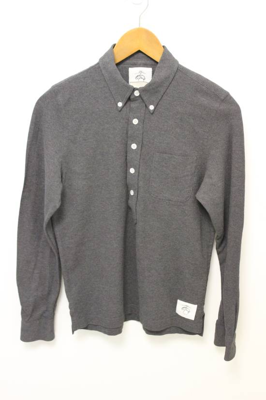 Thom Browne BB0 Long Sleeve Gray Polo Shirt Size US XS / EU 42 / 0