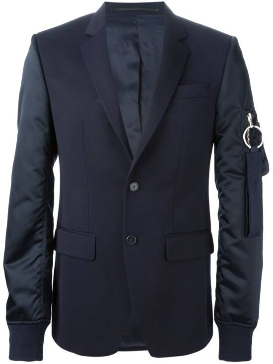 Givenchy $2100 Givenchy Navy Blue Bomber Sleeves Wool Stars Blazer Jacket size 48 (S / M) Size 48S