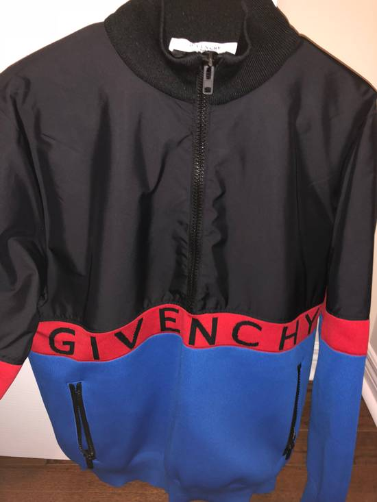 Givenchy GIVENCHY HALF ZIP LOGO BAND JACKET (BLUE/RED/BLACK) Size US XL / EU 56 / 4 - 2