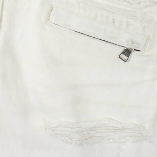 Balmain White Cotton Denim Distressed Biker Jeans Pants Size US 34 / EU 50 - 3