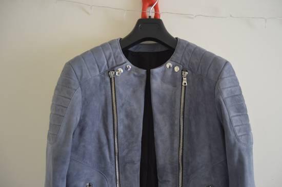 Balmain 1 of 1 Greyish Blue Suede Biker Size US M / EU 48-50 / 2 - 1