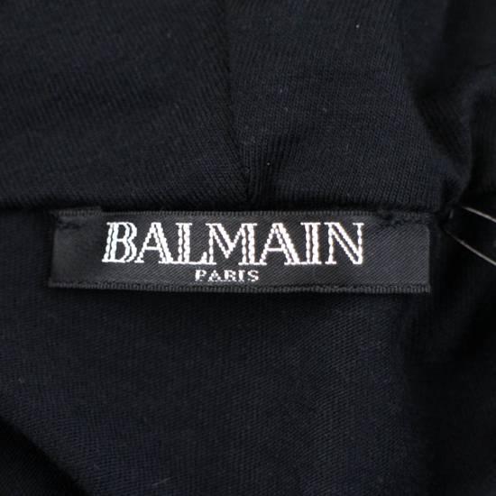 Balmain Black Cotton Shoulder Detail Hoodie Sweatshirt Shirt S Size US S / EU 44-46 / 1 - 6