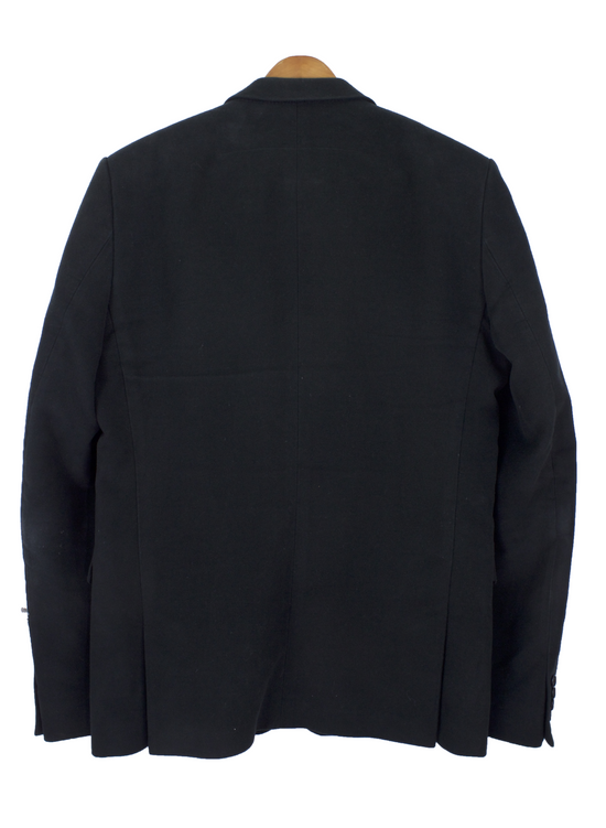 Givenchy Black Cotton Moleskin Blazer Size US L / EU 52-54 / 3 - 1