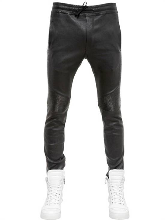 Balmain SS14 Washed Leather Jogger Size US 30 / EU 46