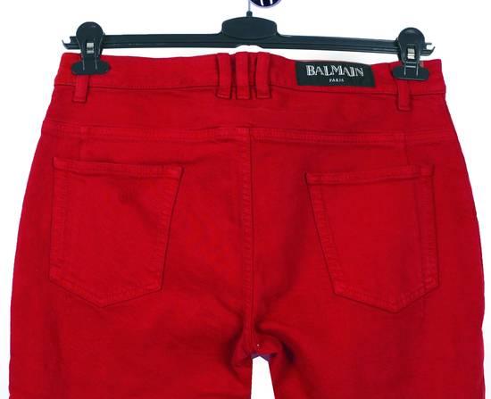 Balmain Original Balmain Distressed Red Men Biker Jeans in size 32 Size US 32 / EU 48 - 3