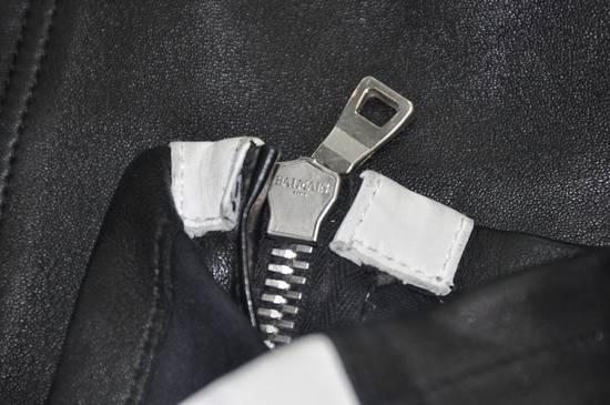 Balmain Balmain Men's Black Biker Style Nappa Leather Trousers Size US 32 / EU 48 - 3