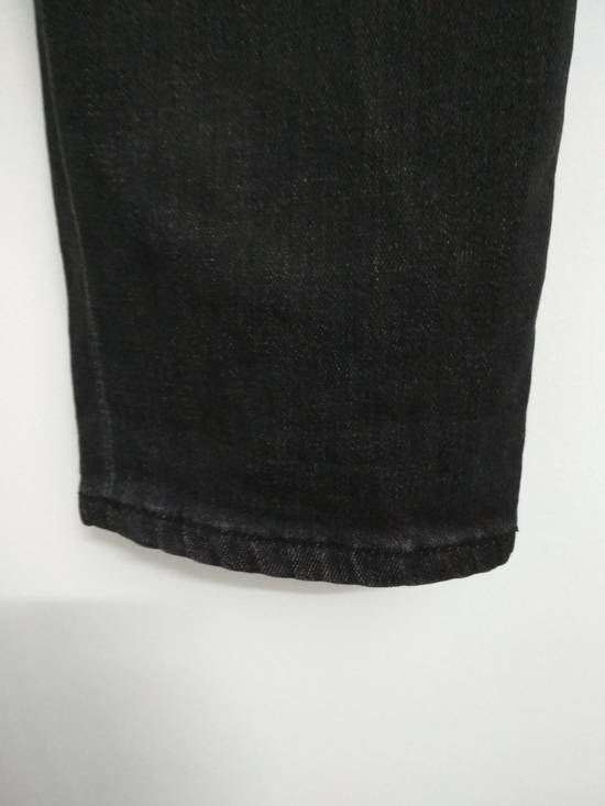 Balmain Authentic BALMAIN Dark Grey Slim Biker Stretch Denim Jeans Made in Italy Size US 32 / EU 48 - 7
