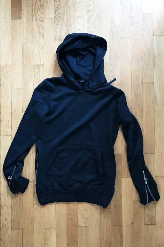 Balmain Black Camo Pattern Zip Hoodie Size US M / EU 48-50 / 2