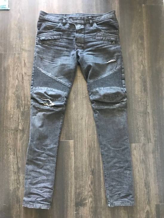 Balmain Decarnin Era Biker Denim Size US 33