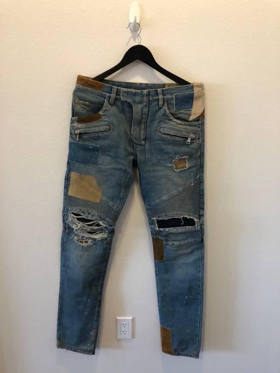 Balmain Patchwork Jeans Size US 30 / EU 46