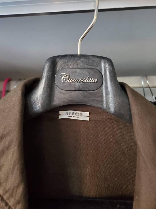 Eidos Napoli EIdos Lupo Brown Knit Button Up Shirt Size US M / EU 48-50 / 2 - 3