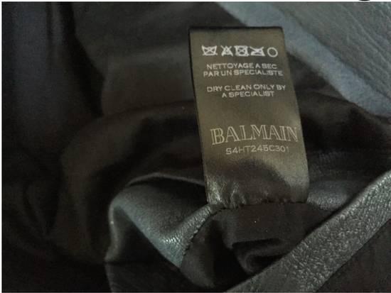 Balmain Navy Balmain Leather Jacket Size US S / EU 44-46 / 1 - 11