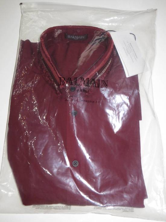 Balmain Embroidered plastron shirt Size US L / EU 52-54 / 3 - 1