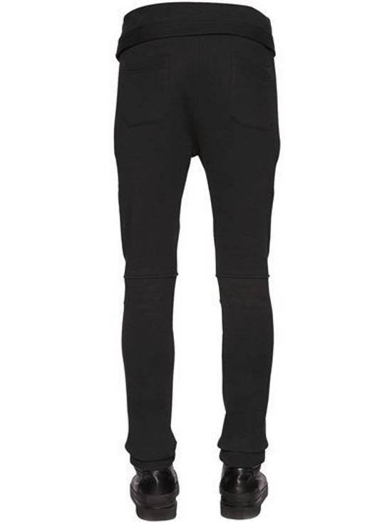 Balmain Balmain Cotton Jersey Biker Black Authentic $1040 Pants Size XL New Size US 36 / EU 52 - 2