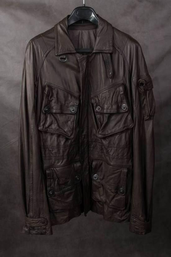 Julius Final Price! AW08 gasmask M65 leather jckt Size US L / EU 52-54 / 3