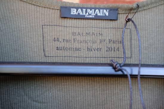 Balmain Khaki Ribbed Knit Long Sleeve T-shirt Size US S / EU 44-46 / 1 - 2