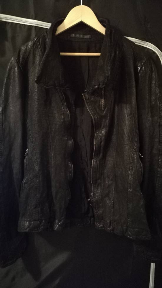 Julius BNWT Size 4 Moldable Collar Leather High Neck Jacket Size US XL / EU 56 / 4 - 3